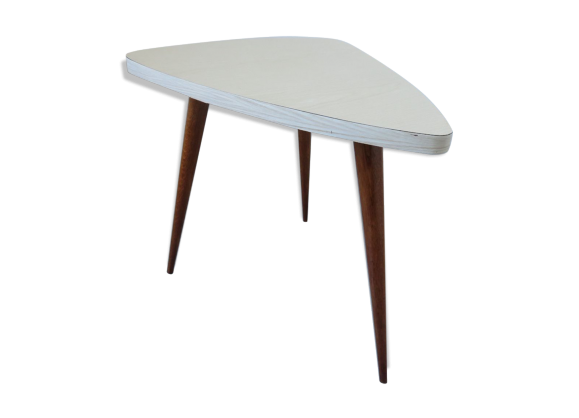 Table tripode scandinave forme libre pieds compas ann es - Table basse scandinave annee 50 ...