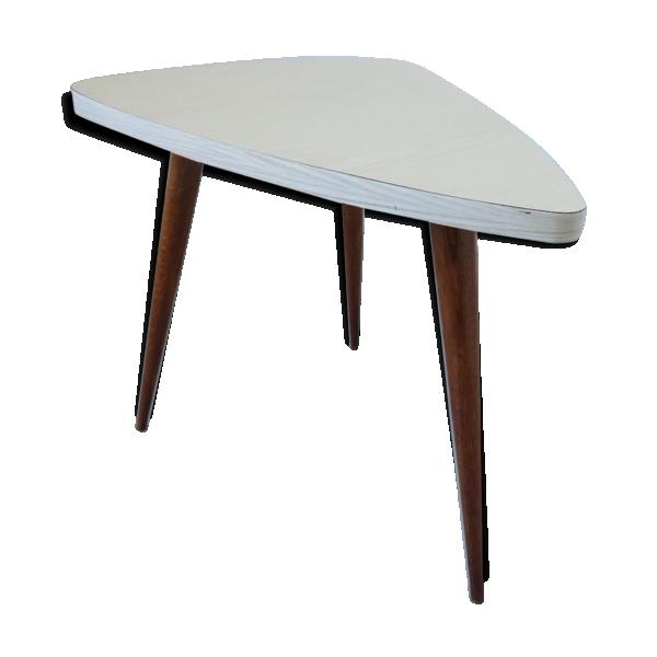 Table tripode scandinave forme libre pieds compas ann es 50 60 bois mat ri - Table tripode annees 50 ...