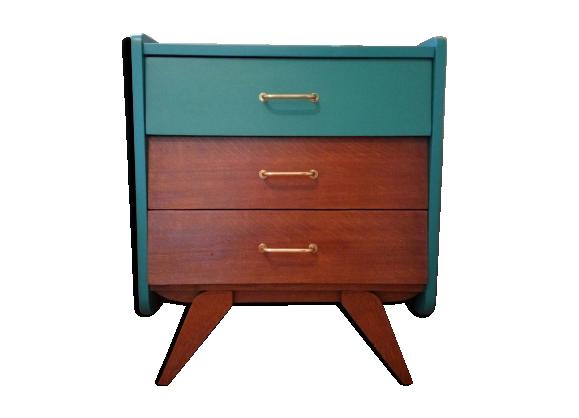 commode ann es 50 bois mat riau vert dans son jus scandinave. Black Bedroom Furniture Sets. Home Design Ideas