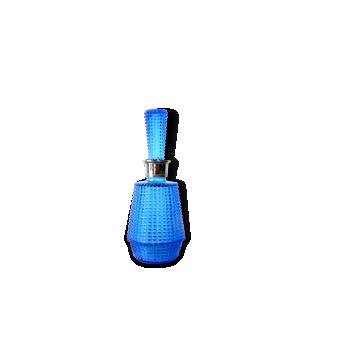Flacon de parfum en verre ciselé bleu