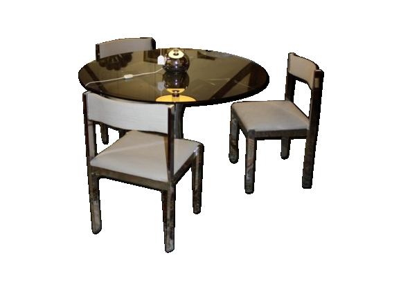 Table verre chaises for Table en verre plus chaise