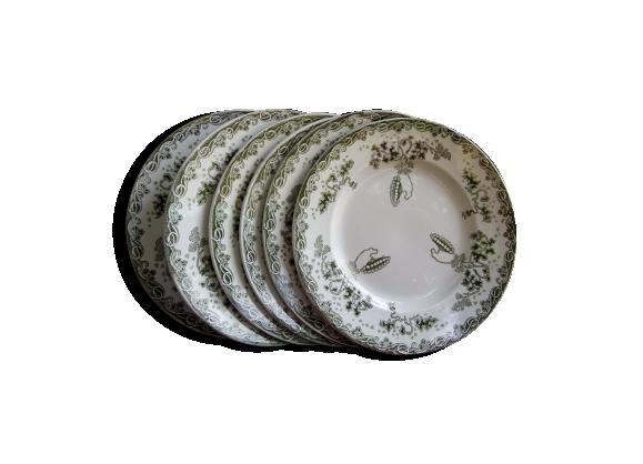 Lot de 6 assiettes plates modèle Modern Style de St Amand et Hamage