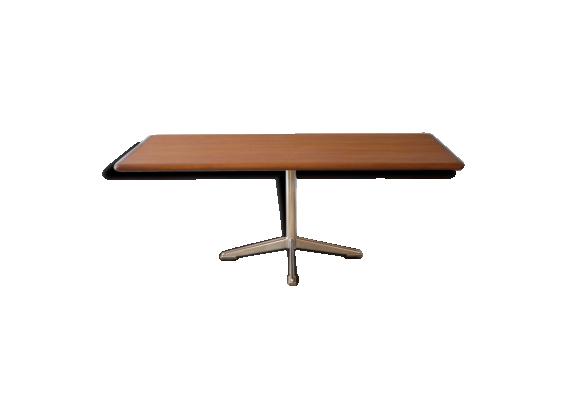 Table basse vintage design scandinave teck bois for Table basse scandinave couleur