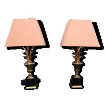 Paire de lampes style Maison Charles 1970