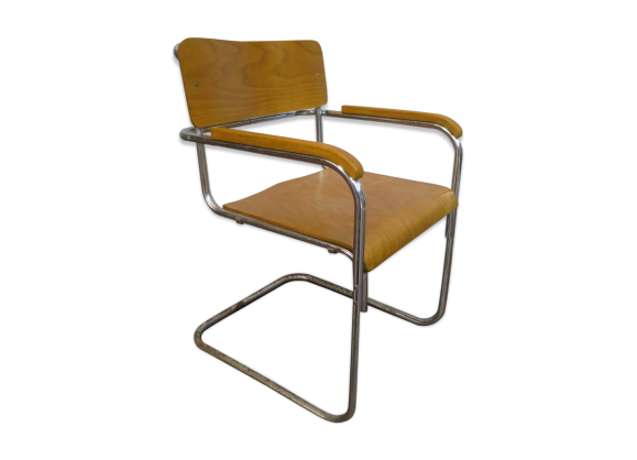fauteuil b34 de marcel breuer 1930 bois mat riau. Black Bedroom Furniture Sets. Home Design Ideas