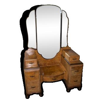 coiffeuse ann es 50 bois mat riau bois couleur bon tat vintage. Black Bedroom Furniture Sets. Home Design Ideas