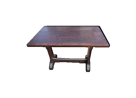 Table de bistrot art déco en bois et métal bar