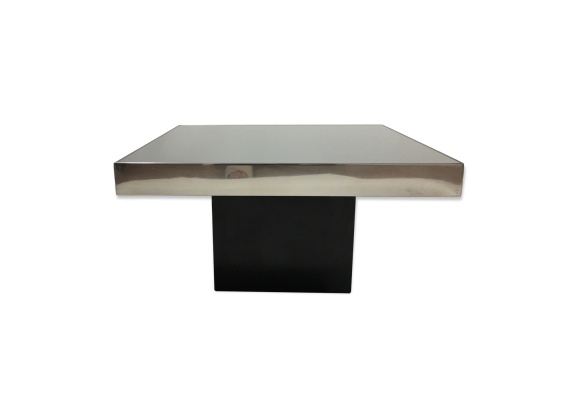 table basse des ann es 70 bois mat riau noir dans son jus design. Black Bedroom Furniture Sets. Home Design Ideas