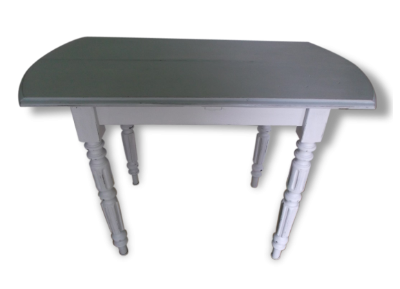 table console ancienne patin e bois mat riau blanc bon tat classique 121232. Black Bedroom Furniture Sets. Home Design Ideas