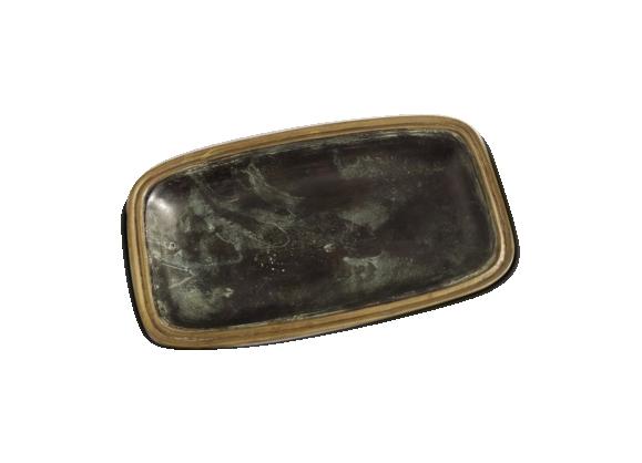 Plat en bronze rectangulaire vert foncé