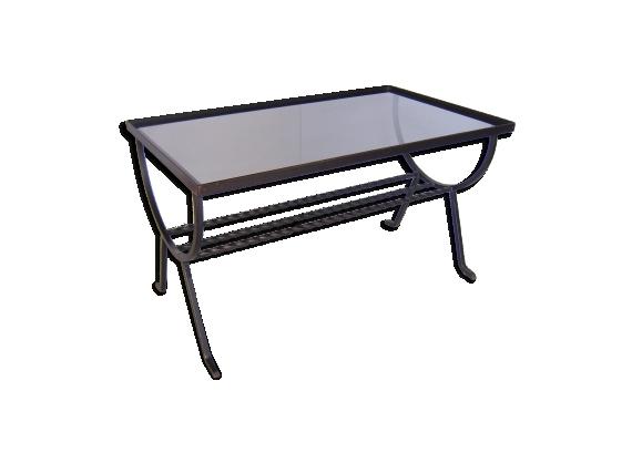 Table basse en fer forgé des années 1960