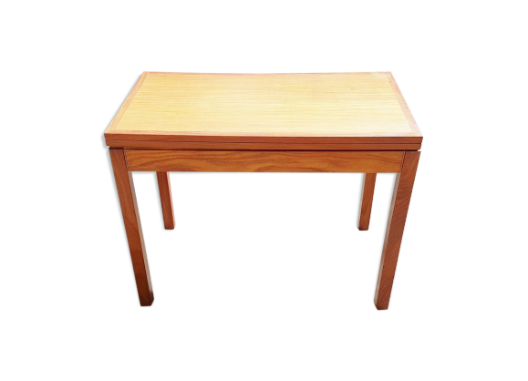 Table jeux ou manger scandinave 1960 en teck vintage for Table a manger en teck
