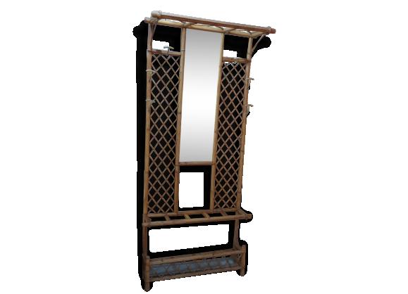 Porte-manteaux en bambou