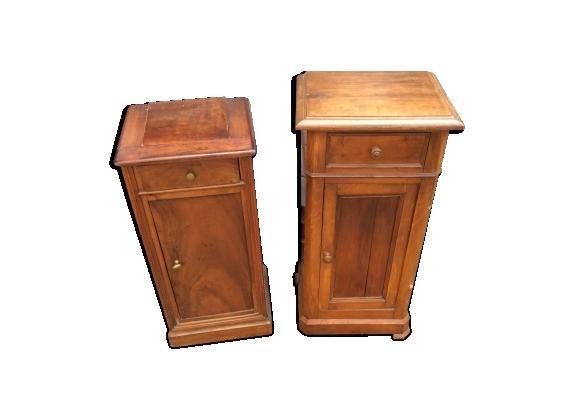 Paire de table de chevet époque Louis Philippe merisier massif