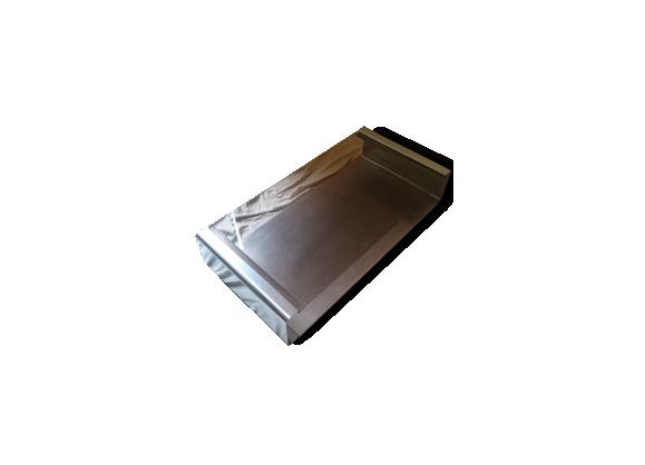 Table basse design métal et verre fumé