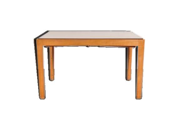 Table de salle manger extensible bois mat riau for Table de salle a manger hauteur 90