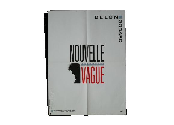 Affiche de cinéma originale 'Nouvell vague' Godard Delon