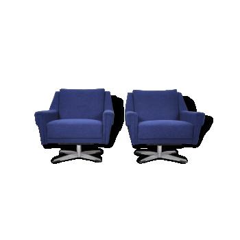 Swivel Lounge Chairs, 1960s, Set of 2