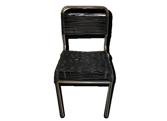 Chaise vintage m tal - Chaise scoubidou vintage ...