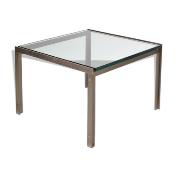 Table basse en verre transparent - Petite table basse carree ...