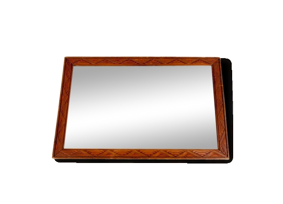 Miroir cadre bois for Miroir ovale cadre bois