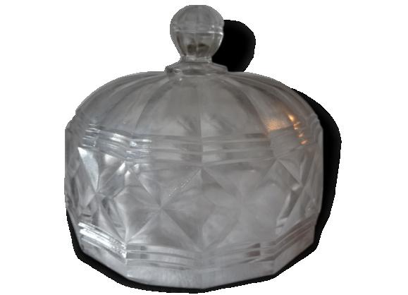 Cloche à fromage ou à pâtisserie en verre moulé