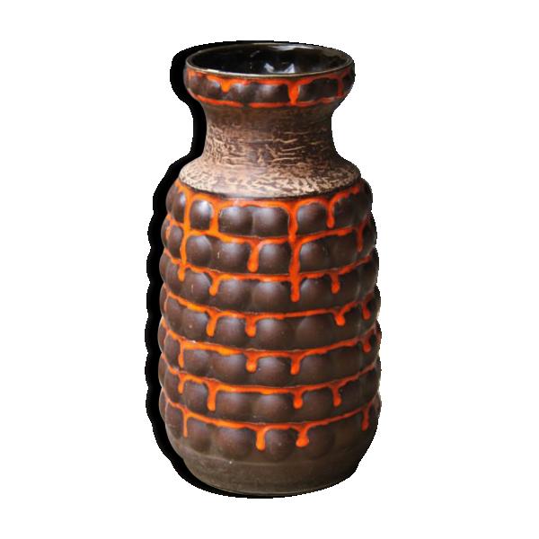 grand vase en c ramique c ramique porcelaine fa ence multicolore bon tat vintage. Black Bedroom Furniture Sets. Home Design Ideas