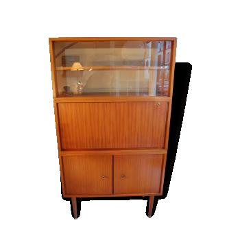 secr taire ann es 50 pieds fuseaux bois mat riau marron dans son jus vintage. Black Bedroom Furniture Sets. Home Design Ideas