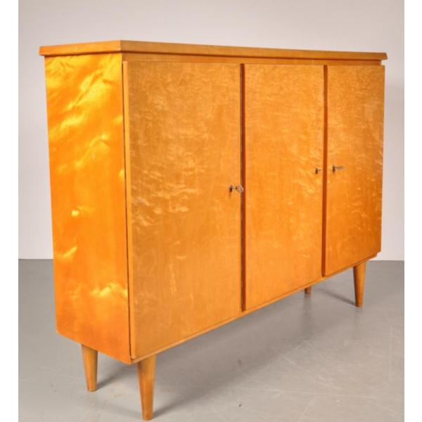 Buffet haut en bouleau de De Bijenkorf, PaysBas, 1950s  bois (Matériau)  b -> Buffet Couleur Bouleau