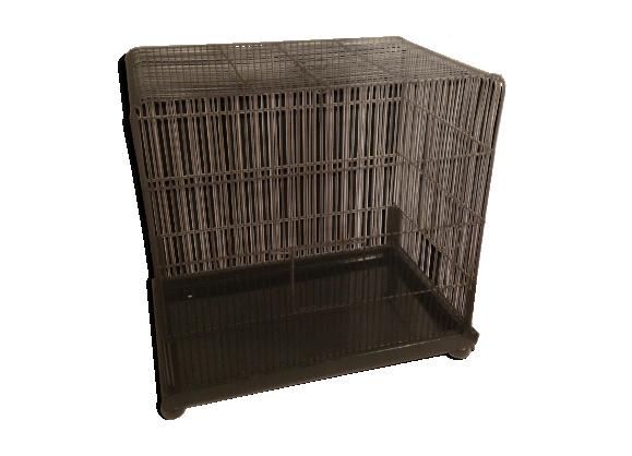 cage oiseau chanteur m tal d but xx me vintage m tal noir bon tat vintage. Black Bedroom Furniture Sets. Home Design Ideas