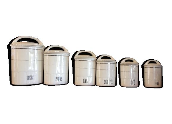 Série de 6 pots à épices