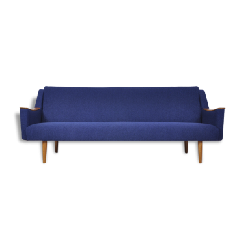 Classic Danish Modern Sofa with Teak Arm Accents,1960s