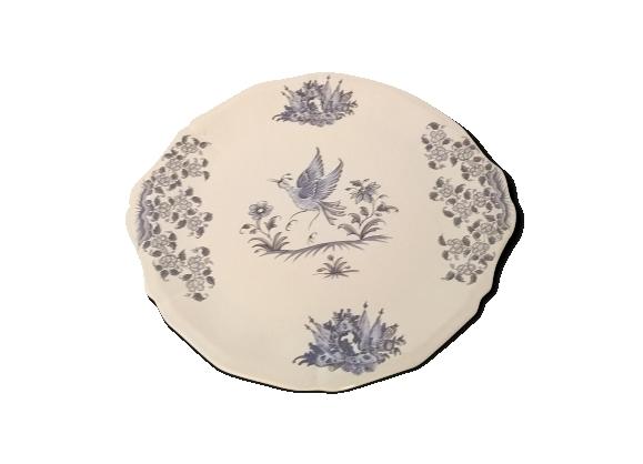 Plat à tarte en céramique ( vieux moustier)