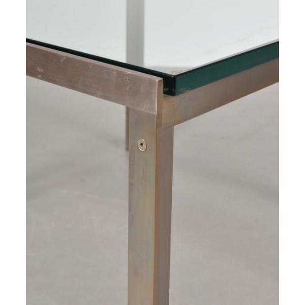 table basse carr e en chrome et en verre de metaform pays bas 1960s m tal transparent. Black Bedroom Furniture Sets. Home Design Ideas