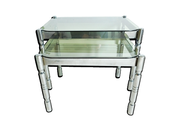 Tables gigognes verre for Tables gigognes verre