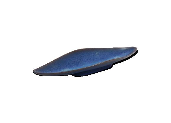 Plat en céramique bleu