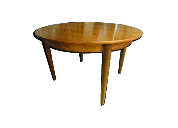Table rallonge teck for Table a rallonge scandinave