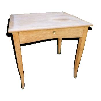 Table carré, bureau années 50