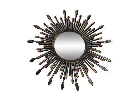 miroir soleil vintage m tal dor bon tat vintage 55e77d21b28d3160a8c05fbd2326c249. Black Bedroom Furniture Sets. Home Design Ideas