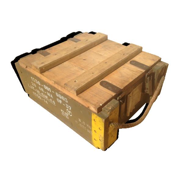 caisse militaire munitions arm e en bois couvercle vintage 5 bois mat riau bois. Black Bedroom Furniture Sets. Home Design Ideas