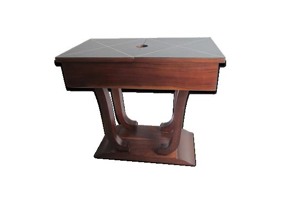 petite table d 39 appoint en palissandre ann e 30 dessus en cuir bois mat riau bois couleur. Black Bedroom Furniture Sets. Home Design Ideas