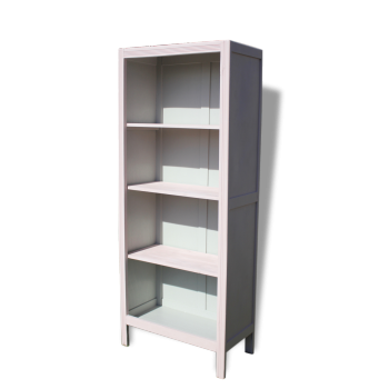 bibliotheque tagere par george nelson finition melamin blanc bois mat riau blanc. Black Bedroom Furniture Sets. Home Design Ideas
