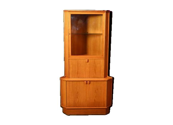 meuble d angle vitrine design scandinave en teck vintage 1960 bois mat riau bois couleur. Black Bedroom Furniture Sets. Home Design Ideas