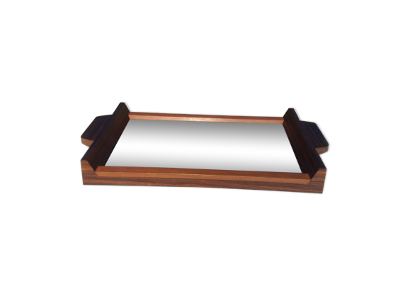 plateau en palissandre style scandinave bois mat riau marron bon tat scandinave. Black Bedroom Furniture Sets. Home Design Ideas
