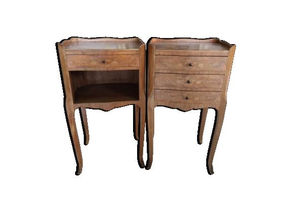 Lot de 2 tables de chevet style Louis XV