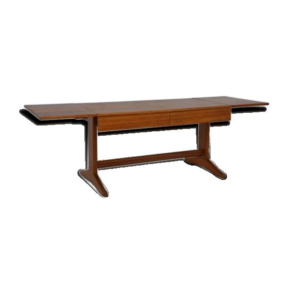 Table basse rallonges scandinave teck bois couleur for Table basse scandinave couleur
