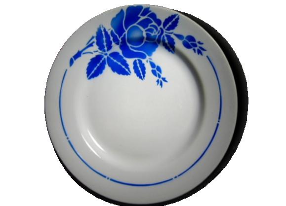 4 assiettes creuses rose bleue modèle sylvain