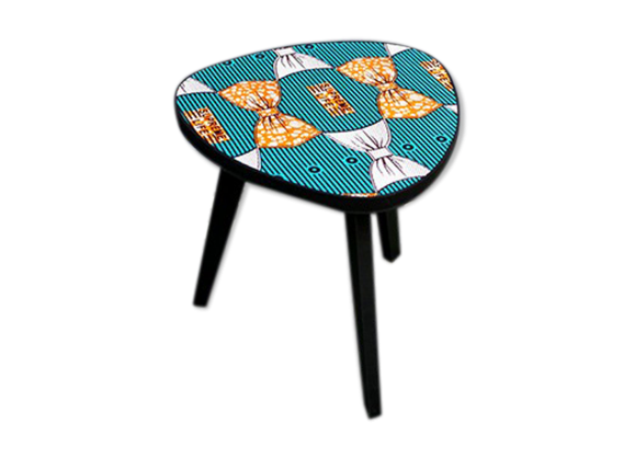 table tripode tonalit vert turquoise bois mat riau vert bon tat thnique. Black Bedroom Furniture Sets. Home Design Ideas