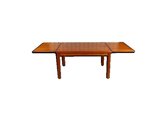 Table design scandinave en teck H. Kjaernulf vintage 1962