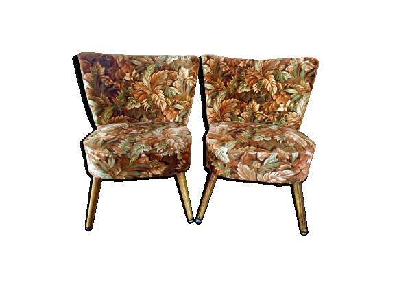 Paire de fauteuils cocktail années 50 60
